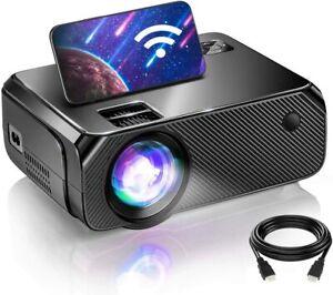BOMAKER GC355 WiFi mini Projector, 2021 Upgraded Portable Movie Projector, HD
