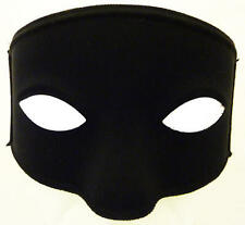 Black Eye Mask With Ties Bandit Zorrow Masquerade Ball Fancy Dress