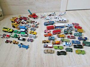*MATCHBOX CORGI DINKY VINTAGE DIECAST CARS TRUCKS BUNDLE JOB LOT OF 61 VEHICLES*