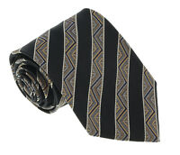 Missoni U5128 Black  Awning 100% Silk Tie