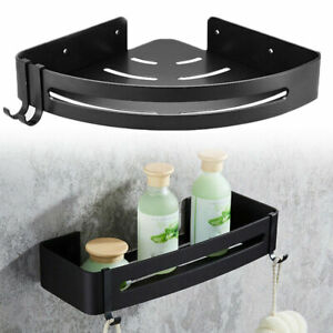 Bathroom Shower Shelfs Storage Rack Corner Walls Mounted Holders Caddy Organizer