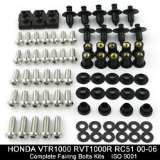 Complete Fairing Bolt Kit Body Screws for HONDA VTR1000 RVT1000R RC51 00-06