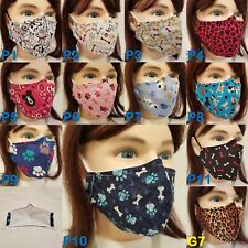 DOG face masks with pets, paws, bones, puppy themes - WOOF! - high quality - USA