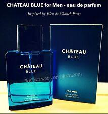 CHATEAU BLUE 3.4 oz EDP Perfume for Men by Sandora (Inspired by Bleu de Chanel)