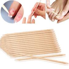 100pcs Cuticle Pusher Cuticle Remover Nail Art Care Manicures Orange Wood Stick