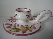 Bougeoir céramique Langres décorée main