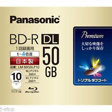 10 Panasonic 3d Bluray Recording Disc BD-R DL 50GB Region Free Inkjet Printable