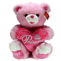 DanDee Sweetheart Teddy Bear Pink with Princess Heart Pillow 2015