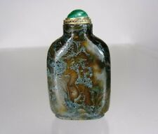 DENDRITIC CHALCEDONY Snuff Bottle, Qing Dynasty, 1760-1880