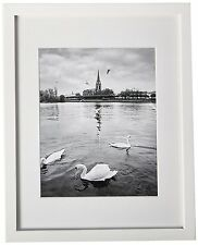 Lot-6 White Color  Wood Picture Frames 11x14 frame for 8x10 photo Real Glass