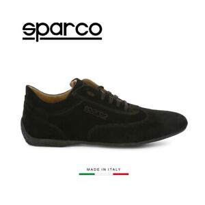 Sparco Imola-GP Mens Black Suede GP Sneakers Sport Casual Driving Racing Shoes