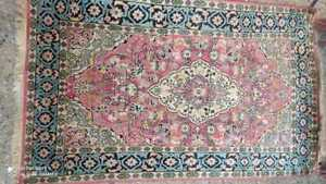 COLLECTORS' PIECE Vintage Oriental Fine Woven Silk Harika Turkish Carpet