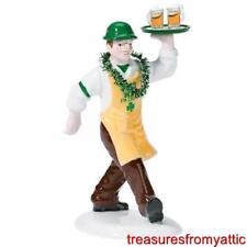 Dept 56 St Patrick's Day BRINGING THE IRISH CHEER #55128 NRFB Snow Village Pub
