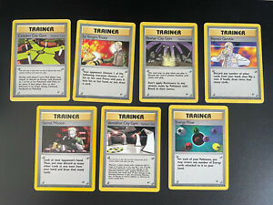 Pokemon Gym Heroes, Trainer Cards, #107, #112, #115, #121, #118, #120, #122