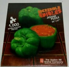 """Incredible Edibles 1000 Piece Jigsaw Puzzle 20"""" x 27"""" Avalon Hill Pepper Tomato"""