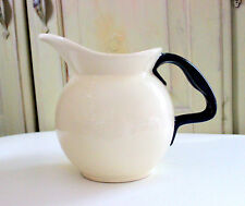 Vintage Hull Pitcher Just Right Kitchen Ware Pattern White with Black Handle
