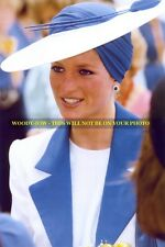 """mm570 - Princess Diana in white & blue hat - Royalty photo 6x4"""""""