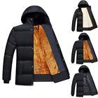 Mens Fashion Warm Hoodie Hooded Parka Winter Cotton Coat Outwear Down Jacket/