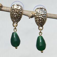 Natural Gemstone Earrings Shield type Handmade
