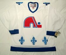 QUEBEC NORDIQUES sz LARGE - CCM 550 VINTAGE series Hockey Jersey  bnwt White cdn