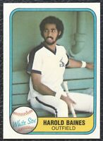 1981 Fleer Harold Baines Vintage Rookie Baseball Card 346 Chicago White Sox NMMT