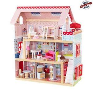 Casa De Muñecas Para Niña Barbies Muebles Accesorios Regalo Para Niña Calidad