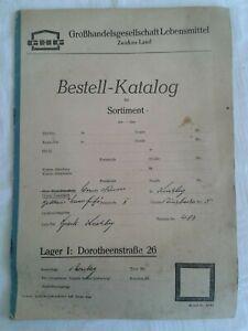 Bestell-Katalog Großhandelsgesellschaft Lebensmittel Zwickau-Land DDR 1963