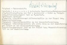 Liselott Linsenhoff Olympia Gold 1968 Dressur Reiten original Autograph (B-8967