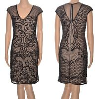 Black embellished evening dress Miss Selfridge bodycon sequins LBD party beaded