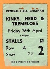Original 1968 Kinks Herd Peter Frampton concert ticket stub Chatham UK