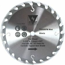 """NEIKO 10772A - 8-1/4"""" x 24 Tooth Carbide Tipped Wood Saw Blade - New"""