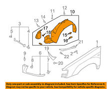 SUBARU OEM 2008 Forester-Front Fender Liner Splash Shield Right 59110SA022