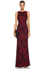 alice + olivia Sachi Sleeveless Open Back Maxi Dress RED AND BLACK Size 6 $398