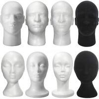 Styrofoam Mannequin Manikin Foam Head Male/Female Model Hat Wig Display Stand