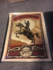 GALLOWS POLE gold silver Neil Young Americana shepard fairey obey giant Signed
