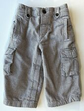BABY GAP BOYS Houndstooth Flannel Cargo Pockets Jersey Knit Lined Pants 12-18M