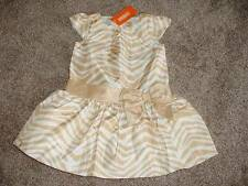 Gymboree Girls Savanna Party Formal Gold Zebra Bow Dress Size 2T 2 NWT NEW $59