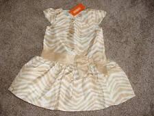 Gymboree Toddler Girls Savanna Party Formal Gold Zebra Dress Size 2T 2 NWT NEW