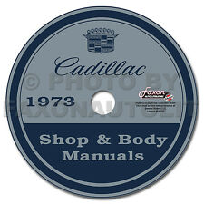 1973 Cadillac Shop Manual and Body Repair CD Eldorado Deville Fleetwood Calais