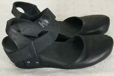 Axxion Black Wedge Comfort Shoes Sz 11 Womens Straps Casual