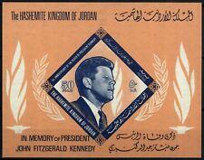 Jordan 1965 SG#MS660 President Kennedy JFK MNH M/S Cat £30 #E22770