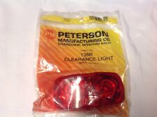Peterson 138R Red Clearance Marker Light With White Plastic Base