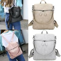 Women's Leather Backpack Anti-Theft Rucksack School Travel Satchel Shoulder Bag