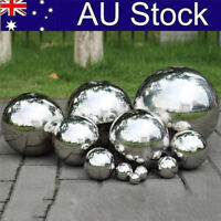 Stainless Steel Mirror Polished Sphere Hollow Ball Home Garden Ornament Decor AU