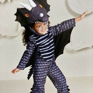 New Halloween Dress-Up Hyde and Eek! Boutique Toddler Dark Dragon Costume 2T-3T