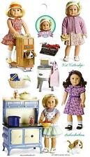 AMERICAN GIRL KIT~RUTHIE STICKERS!  PARTY FAVORS~GIFT BAGS~STOCKING STUFFER!