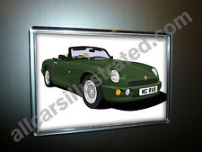MG RV8 FRIDGE MAGNET (LARGE) CHOOSE YOUR CAR COLOUR.