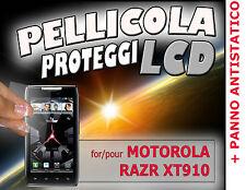 Pellicola protezione LCD per MOTOROLA RAZR XT910 + PANNO ANTISTATICO