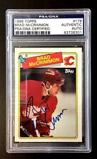 BRAD MCCRIMMON SIGNED 1988 TOPPS CALGARY FLAMES CARD PSA/DNA AUTO SLABBED