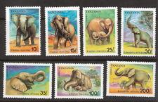 Tanzania 1991 Elephants Complete Set Seven (7) MNH (SC# 792-798)